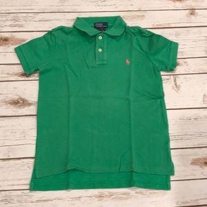 Boys Polo Ralph Lauren Polo T Shirt Size 7 Green